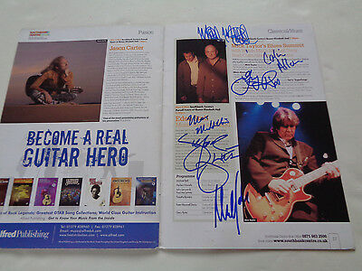 Mitch Mitchell  Mick Taylor And Terry Reid  Signed Uk Guitar Festival Programme