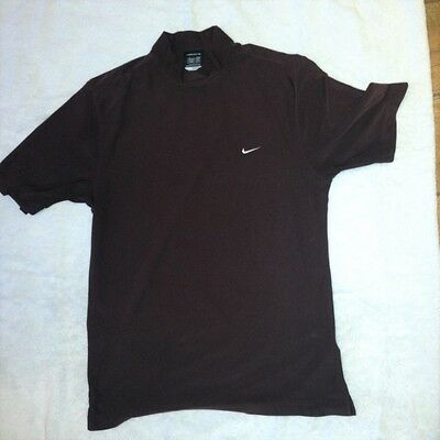 Nike Golf FitDry Top Size Medium Brown. VGC