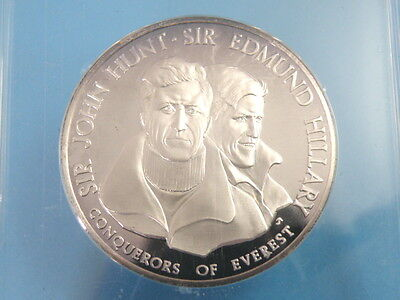 Historical Britannia Society Fine Silver Proof Medal - Mt. Everest Edmund Hilary