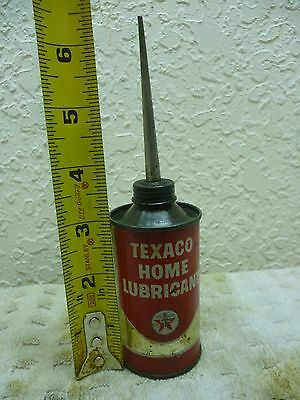 Vintage Texaco Home Lubricant metal bottle/can - nice