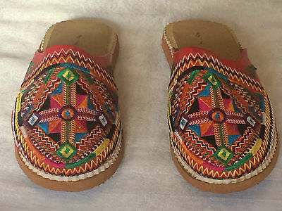 Traditional Moroccan Berber Leather Babouche, Slippers for Women fully Handmade