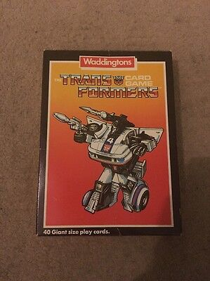 Transformers card game vintage Waddingtons
