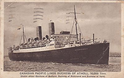 Canadian Pacific Liner 'Duchess of Atholl'