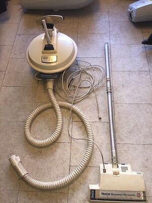 Vintage Hoover Celebrity Canister Vacuum Cleaner Attachments Tested Works S3217