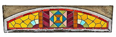 All Orig 1880's Chicago Stained Glass Residential Transom Window