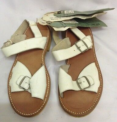 WW2 Style Sealed Pattern Sandals White Tropical WRAF‎ Nursing Service 1962 Dated