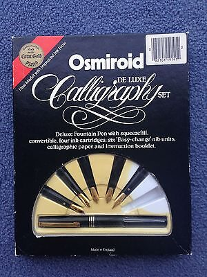 Osmiroid Calligraphy Gold Plated Deluxe Box Set VG CONDITION