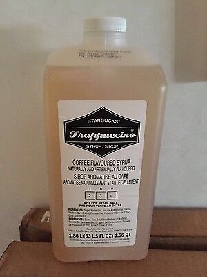 Starbucks Frappuccino Coffee Flavored Syrup Sealed 63.0 Oz Fast Free Ship US 48