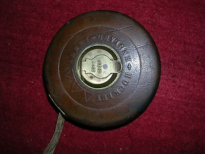 A Vintage Hockley Abbey 33Ft Leather Tape Measure No 251.