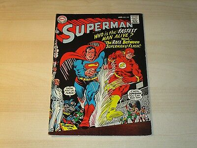 Dc Superman #199 Superman Flash 1St Race Key Issue High Grade Vf- Sweet Book!