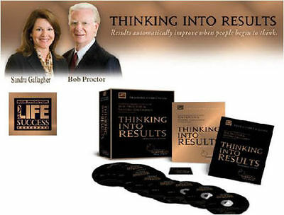 THINKING INTO RESULTS Audios w/Workbook and Goal Card by Bob Proctor!