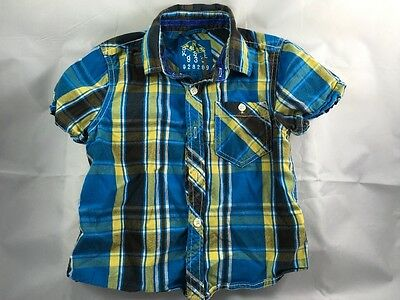 Boys next checked short sleeved shirt age 3 years