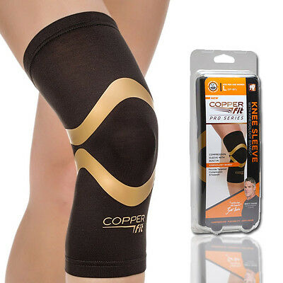 Copper Fit Pro Series Performance Compression Knee Sleeve Brace Large / XL