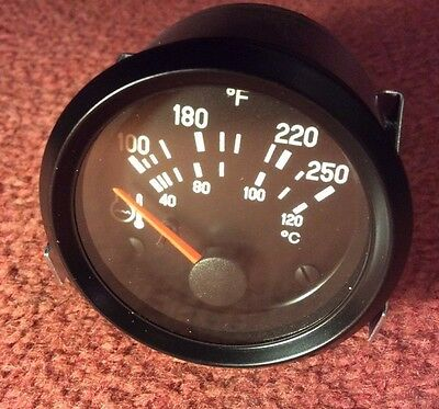 New VDO water Temperature Gauge 52 mm oF And oC  12v