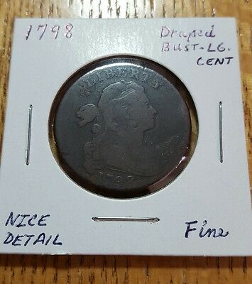 1798 Draped Bust Large Cent Nice example