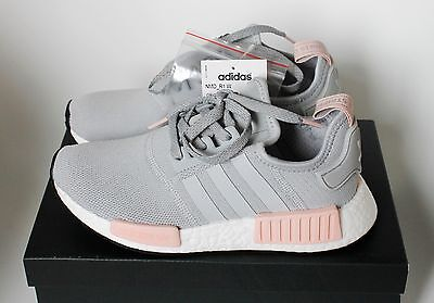 on sale 31e17 b01a7 Adidas NMD Runner Womens Light Onix Grey   Vapour Pink Exclusive BY3058 4 5  New