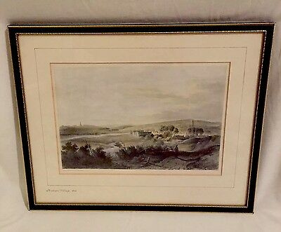 Engraving Of Newburn Village 1820 Print?Etched & Painted By T.M Richardson Rare