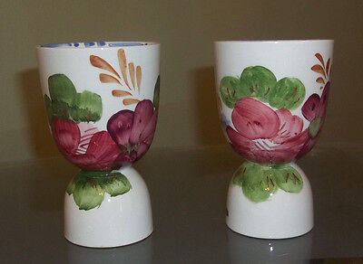Two Vintage Ceramic Double Egg Cups Roses