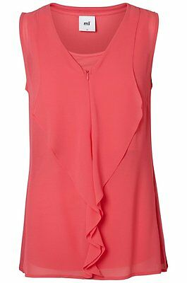 Mamalicious Nursing Feeding Ruffles Lia Rouge Smart Top All Sizes Bnwt Rrp £35