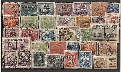 Poland. Mixture. Scan Of Used Stamps