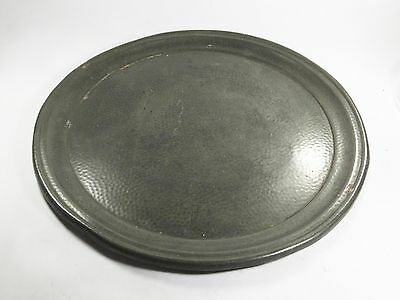 Vintage W & Co Ringmark 625 hammered pewter tray charger platter round
