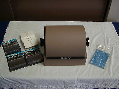 Rolodex Model 2400 Large Double File System Clean w/ Extra Supplies