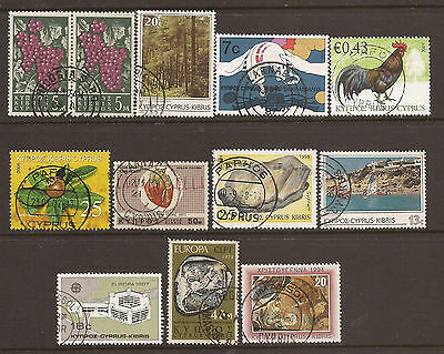 Cyprus. Mixture. Scan Of Used Stamps.