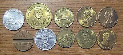 Lot of 10 Tokens
