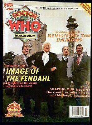 Doctor Who Magazine issue 197 rare with poster