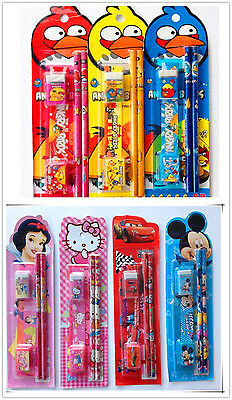 Wholesale-Price Kids- ANGRY BIRDS- 5 in 1 Stationery Sets - PARTY BAGS FILLERS