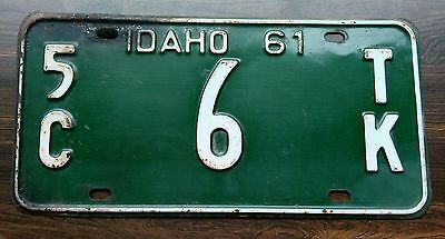 1961 Idaho single digit truck license plate from Clark county