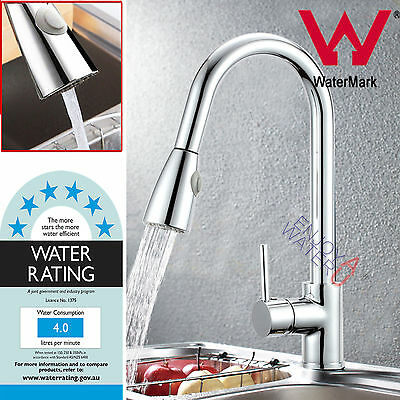 Brass Pull Out Spout Kitchen Basin Mixer Tap Sink Laundry Faucet Chrome WELS
