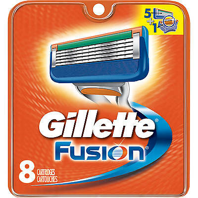 8 new replacement Gillette Fusion blades Shaving Razor Blades for Gilette