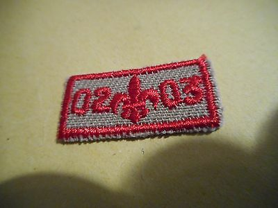 2002-03 Boy Scouts small year Patch