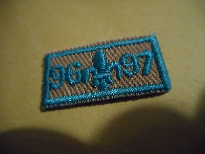 1996-97 Boy Scouts small year Patch