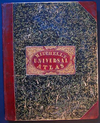 Rare Mitchell's New Universal Atlas by S Augustus Mitchell