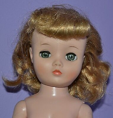 """Uneeda 19"""" Multi Jointed Dollikin 2S Blonde Bangs Flaws 1950's 1960's Doll"""