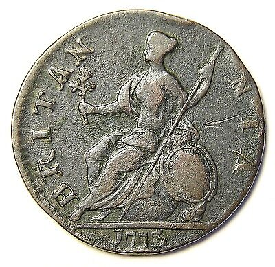 Authentic American Revolutionary War Coin 1773 Unusual Date