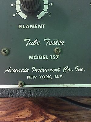 Accurate Instruments Model 157 Tube Tester