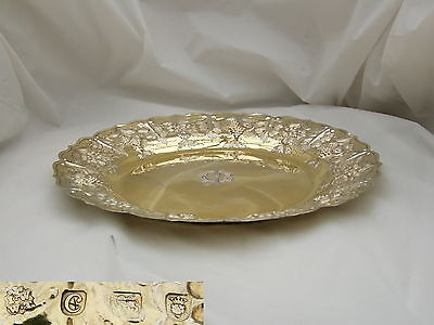 Rare Geo Iii Hm Sterling Silver Gilt Dinner Plate 1778