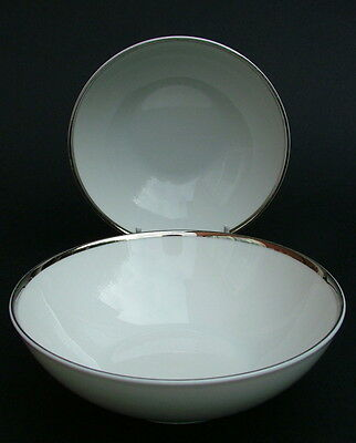 TWO Thomas Medallion 4mm Wide Platinum Band 798 Sm Fruit / Dessert Bowls 14.25cm