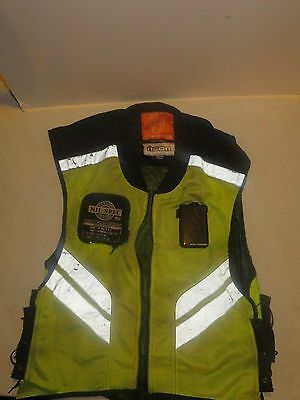 Icon Military Spec High Visibility/Safety Mesh Motorcycle Riding Vest - Yellow
