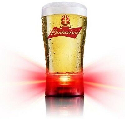 Budweiser RED LIGHT Collectible Goal Synced Glass Redemption Code Only Free Ship