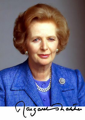 """Margaret Thatcher tory prime minister PP Signed photograph 6"""" x 4"""" No.2"""