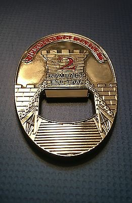 LAPD Los Angeles Police Rampart Division Challenge Coin / Bottle Opener