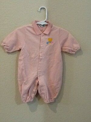 Mikihouse Baby Infant Girls Pink Sleeper Romper Size 60 3-6 Months
