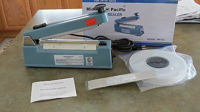 Eletric 8-inch  Poly Tubing Sealer and plastic bag cutter,