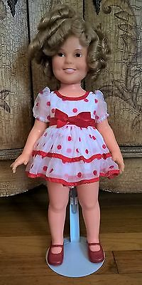 "1972 IDEAL TOY CORP. SHIRLEY TEMPLE DOLL ""Stand up and Cheer"" with Stand"