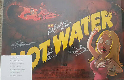 American Dad - Poster hand signed by main cast - Comic Con -SDCC