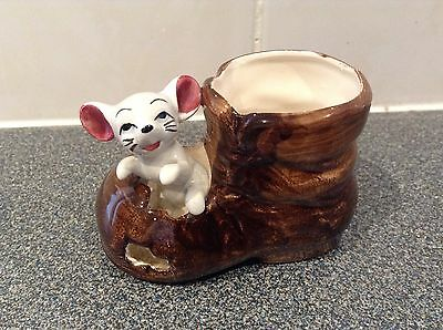 Small Mouse In A Boot Ornament